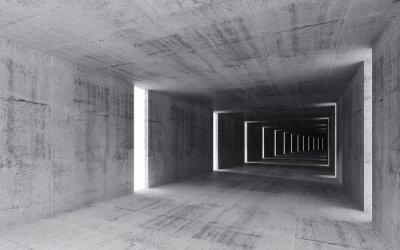 Obraz Renderowania 3D, abstrakcyjne tło puste wnętrza betonu