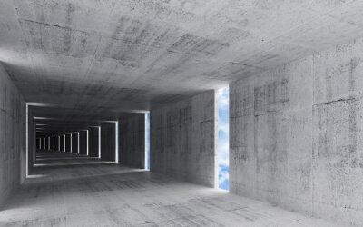 Obraz Renderowania 3D, abstrakcyjne wnętrze pustego tła grungy betonu