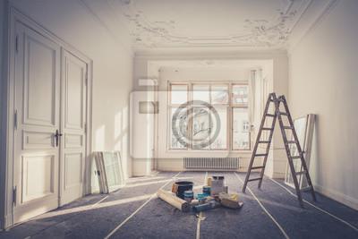 Obraz renowacja - apartament podczas renowacji - majsterkowanie