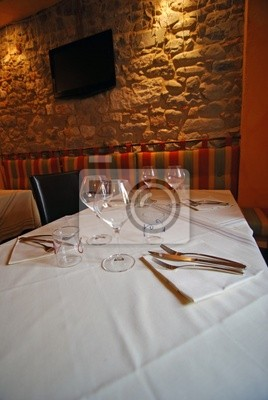 Restaurant interior, Barga, Włochy