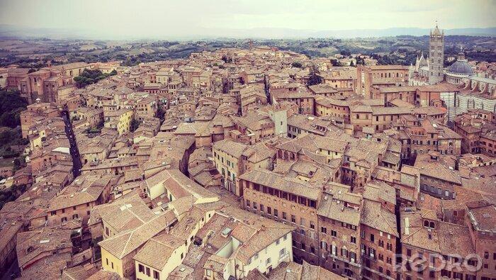 Obraz Retro filtrowane panoramiczny widok Siena, Włochy.
