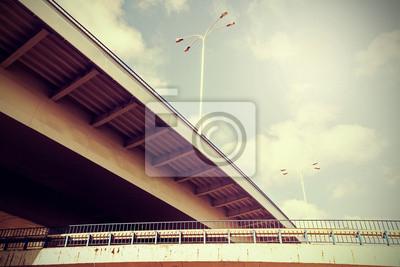 Retro filtrowane zdjęcie infrastruktury drogowej.