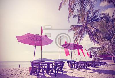 Retro filtrowany obraz plaży.