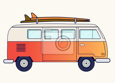 Retro furgonetka