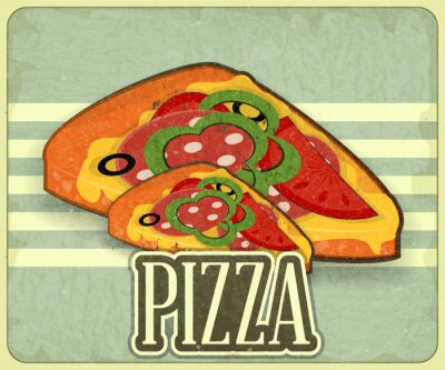 Obraz Retro Pokrywa Pizza