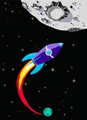 Obraz Retro Rocket Spaceship