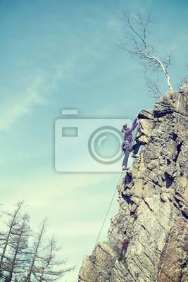 Retro sączy zdjęcia kobiet alpinistą.