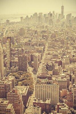 Obraz Retro starym stylu filmu Manhattan, NYC.