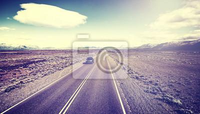 Retro stonowanych autostrady kraju w Argentynie.