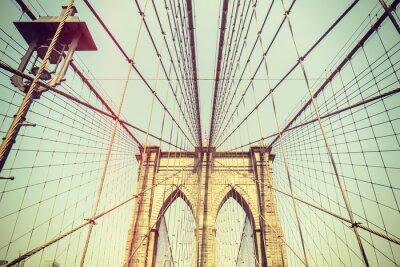 Obraz Retro stonowanych obraz Brooklyn Bridge, NYC.