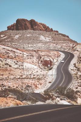 Retro stonowanych obraz malownicze kręte drogi.