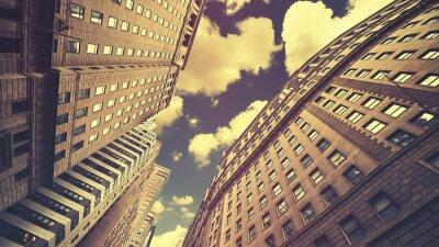 Obraz Retro stonowanych wieżowce w Nowym Jorku Manhattan, USA
