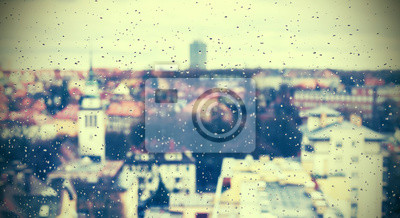 Retro style abstract urban background .