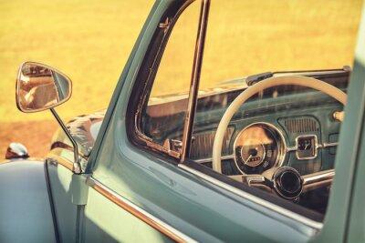 Obraz Retro stylem szczegółowo klasyczny samochód