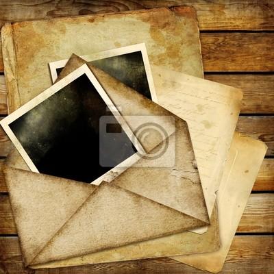 Retro tła z ramki i starych listów