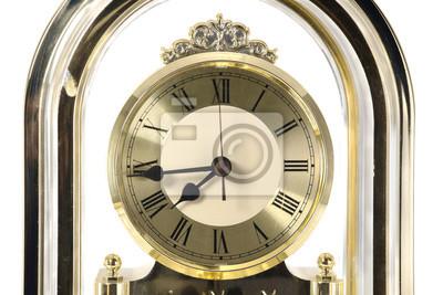 Retro zegara / Zamknąć retro tarczy na białym tle.