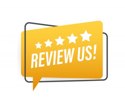 Obraz Review us User rating concept. Review and rate us stars. Business concept. Vector illustration.