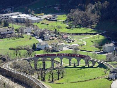 Obraz Rhaetian kolejowy i Bernina Express, UNESCO WH