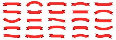 Obraz Ribbon banner set. Ribbons collection. Red ribbons. Vector ribbon