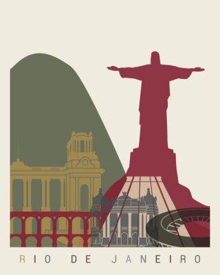Obraz Rio de Janeiro Skyline Plakat