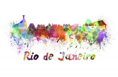 Obraz Rio de Janeiro Skyline w akwareli