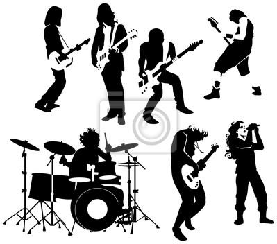 Obraz Rock and roll muzyków