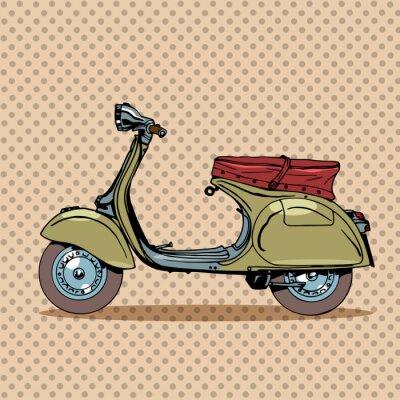 Obraz Rocznik skuter transportu retro