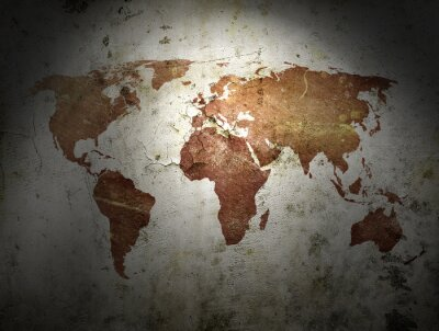 Obraz rocznik wina, mapa świata