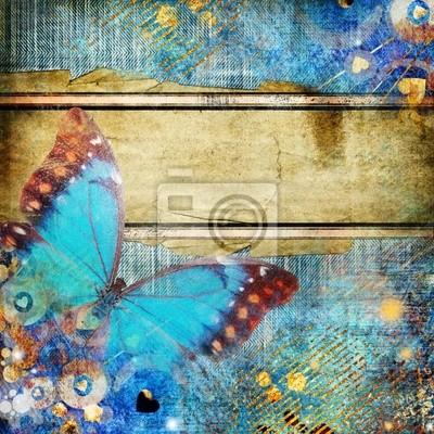 rocznika abstrakcja z motylem