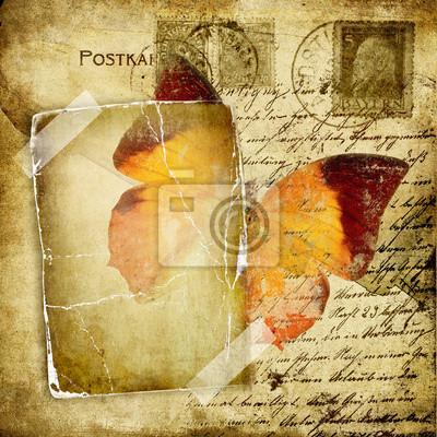 rocznika FOTOGRAFICZNY stron z motylem