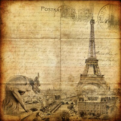 Obraz rocznika listu - Paris