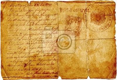 rocznika listu z charakterami pisma i pieczęci