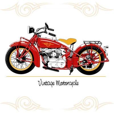 Obraz Rocznika motocykla