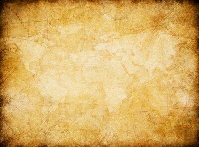 Obraz rocznika tło mapa świata stylizacja