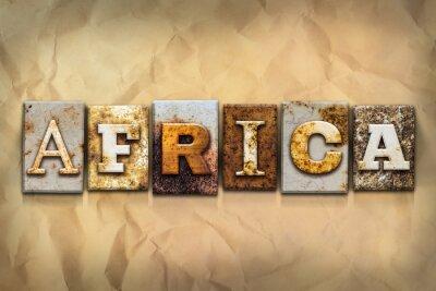 Obraz Rodzaj Afryka Praca zardzewiałego metalu