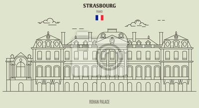 Rohan Palace of Strasbourg, France. Landmark icon