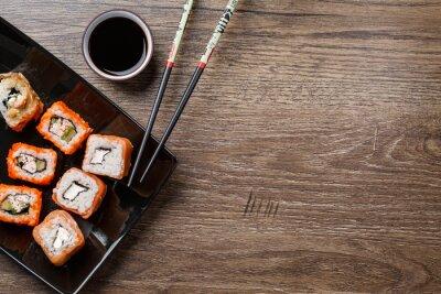 Obraz Roll Sushi z pałeczki