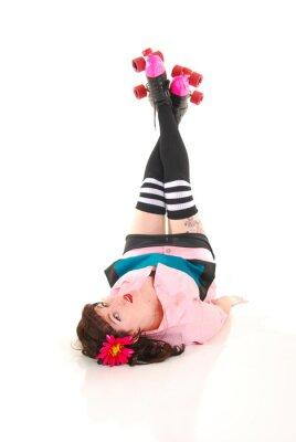 Obraz Rollergirl na podłodze