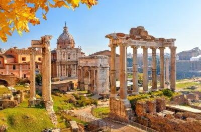 Obraz Roman ruins in Rome, Forum