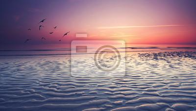 Obraz romantischer Sonnenuntergang wygrywa am Watt