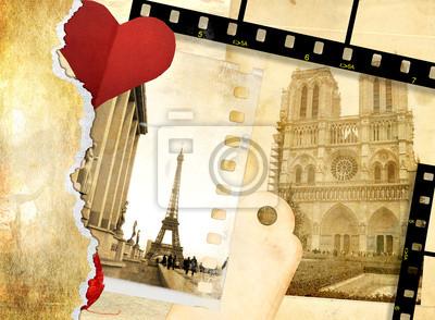 romantyczne litery - Pozdrowienia z Paryża