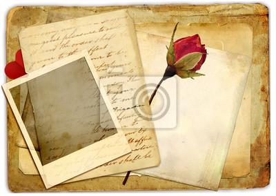 romantyczny retro tle z różą