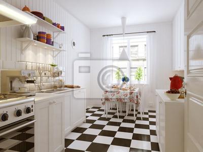 Obraz Romatische Küche Kuchnia W Stylu Ikea Na Wymiar Czerwony