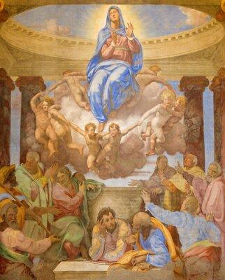 Obraz Rome - Assumption fresco in church Trinita dei Monti.