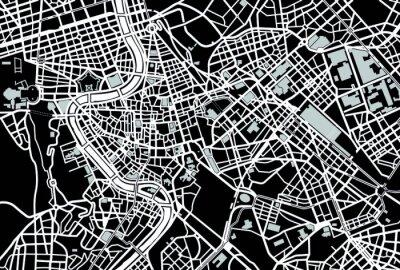 Obraz Rome black and white map