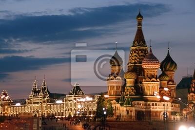 Rosja, Moskwa, Cerkiew Wasyla Błogosławionego