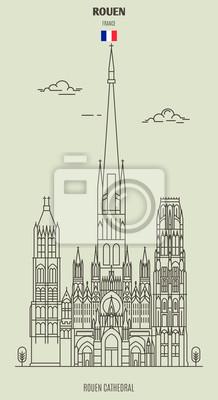 Rouen Cathedral, France. Landmark icon