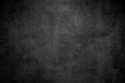 Obraz Rough Black wall slate texture rough background, dark concrete floor or old grunge background