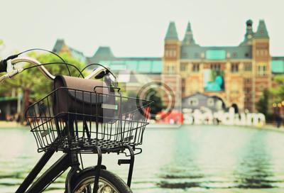 Obraz Rower z I Amsterdam znakiem
