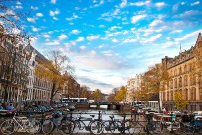 Obraz rowerów w Amsterdamie